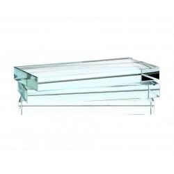 Support en verre rectangulaire
